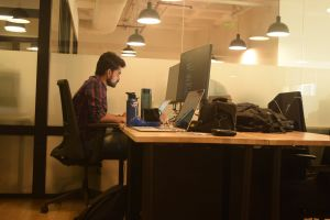 nerd software developer office coding geek development