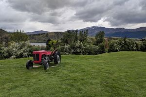 new zealand red tractor tractor landscape