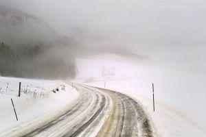 norway mountain winter landscape snow road winter winter road