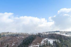 olomoucky kraj travel destination snowy nature mountains winter winter mountains forest trekking winter scenery