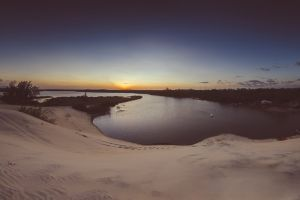 panoramic praia sunset dunes brasil panorama dune sand beach beach fisheye