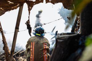 people helmets firefighters danger men daylight