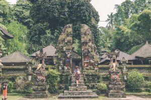 person bright asia culture female architecture woman stones tourism wear