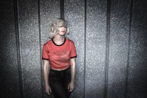 person lips model style sexy facial expression woman stylish wall fashion