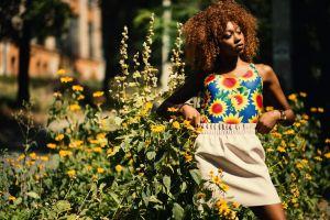 person pretty style fashion female wear woman beautiful beauty flowers