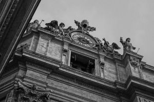 petersdom rome black and white architecture basilica gold church
