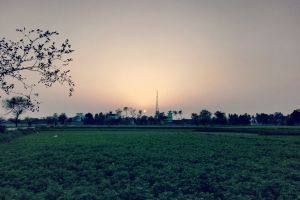 pind evening sky sialkot golden sun village shahzaib pakistan evening dehat evergreen