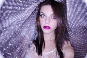 pretty attractive female beautiful portrait lady woman lips make up person