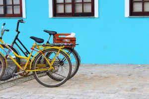 primary colors beach saturation bicycle