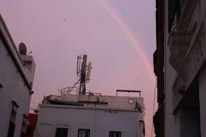 rainbow africa sunset morocco