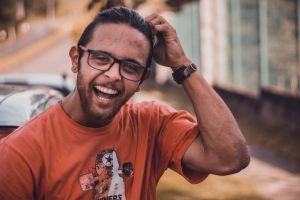 recreation urban model street photoshoot male facial expression daylight eyeglasses guy