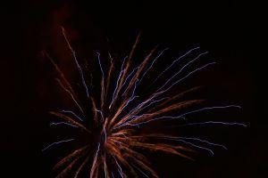 red blue firework lights rocket vibe new year's eve light pyrotechnics
