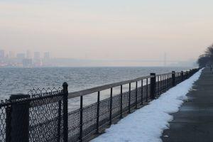 riverside park hudson river new york city snow nyc winter