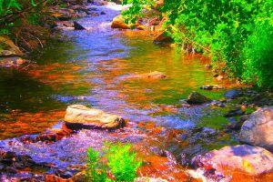 rocks colorful llandscapes beautiful landscape colorful river bank trees landscape
