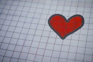 romantic romance card art illustration texture design symbol color red