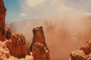 sand geology sand storm nature rocky desert sandstone cliff