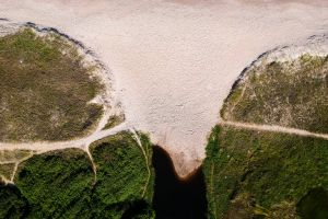 sand mountain seashore drone cam drone footage environment scenic bird's eye view from above aerial view