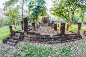 sculpture thailand elephant heritage structure exotic building wat ruin sukhothai