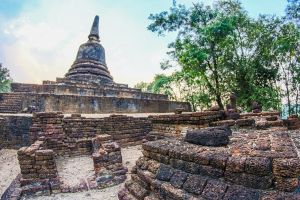sculpture vacation ancient heritage thailand exotic structure stupa temple architecture