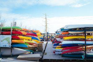 ship colors daytime clouds watercrafts sailing ship landscape boats canoe recreation
