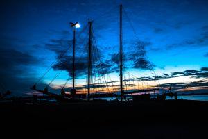 ship watercraft night masts transportation system sky evening boat