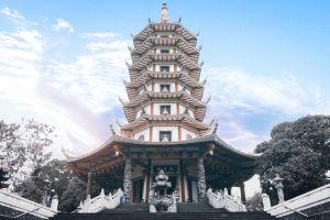 shrine trees clouds park thailand sky asia landmark pagoda daytime