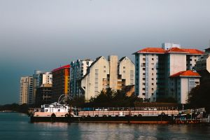 silly brown cochin building boat kerala red fog green urban