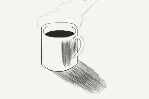 sketching mug coffee mug sketch digital art art
