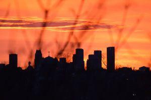 sky buildings skies orange sky