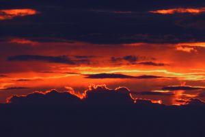 sky dawn dark dramatic sun nature heaven sunrise clouds scenic
