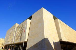 sky modern blue architecture building malta