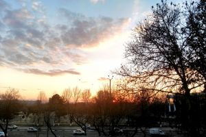 skyline sunrise tashkent