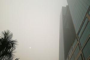 smog fog air pollution building sun