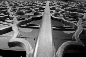 south carolina iron gate scroll work monochromatic spartanburg wall metal