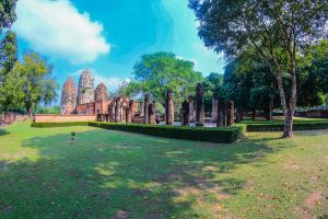 southeast ruin architecture siam park sculpture sukothai buddhism culture world