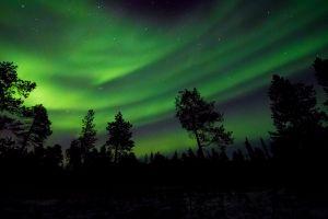 space surreal dark night sky planet astronomy nightscape atmosphere northern lights aurora borealis