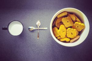 spoon color biscuits bowl eating drink healthy cup food milk