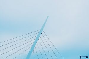 steel sky blue sky low angle shot wires daylight