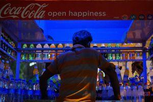 street coca cola street food night lights