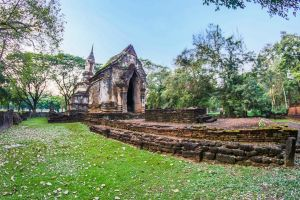 structure exotic statue tourism history buddhism vacation thailand chang world