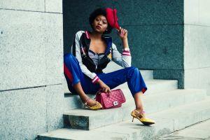 style person fashion red outdoor lady skateboard wear fashion model black