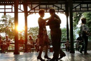 summer sunset dancing