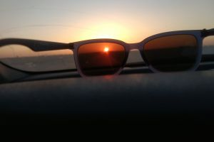 sunglasses morning sun sunrise wayfarer