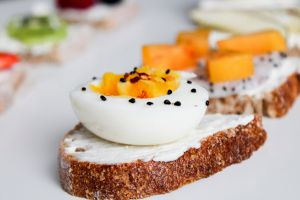 tasty slices bread delicious food healthy food photography egg