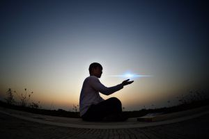 tesseract light guy soul sunset blue energy spirit