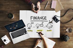 top view woman finance company indoors planning meeting camera wood savings