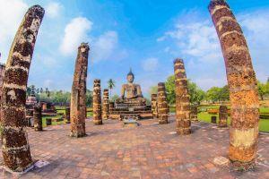 tropical sukothai landscape east sukhothai eastern destination buddhism landmark religion