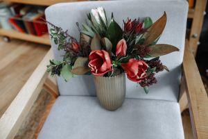 tulips wood modern still life wooden design interior interior design flower arrangement vase
