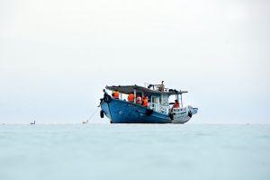 vessel clear sky ferry daylight ocean blue boat watercraft transportation system sea