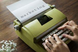 vintage wood typing write working machinery office hands typewriter flatlay